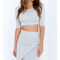 Two-Piece Mini Bodycon Dress