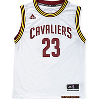 Adidas 8-20 LeBron James Cleveland Cavaliers Replica Home Jersey - Whi