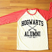 Hogwarts Alumni T-Shirt Harry Potter T-Shirt Hogwarts Shirt Red Sleeve Tee Shirt Women Shirt Men Shirt Unisex Shirt Baseball Tee Shirt S,M,L