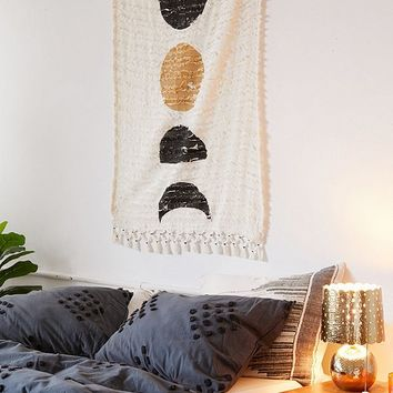 Moon Phase Textured Tapestry | Urban Outfitters