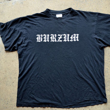 Vintage 90's European Rare Early Burzum Black Metal T Shirt