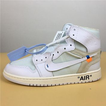 "Air Jordan 1 Retro ""White""36-47"