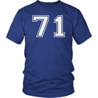 Men's Vintage Sports Jersey Number 71 T-Shirt for Fan or Player #71