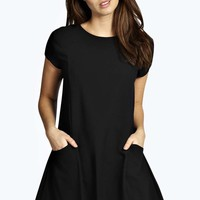 Mary Pocket Panelled Fit & Flare Dress