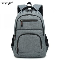 School Backpack trendy Gray Large Capacity Men's Backpack with USB Canvas Laptop Backpack Male High Quality 2018 Travel School Bag 2 kinds for Choice AT_54_4