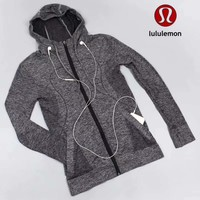 Lululemon Women Fashion Hooded Gym Yoga Cardigan Jacket Coat-3