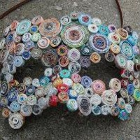 MASQUERADE coiled recycled paper handmade mask n 224 by Artesa