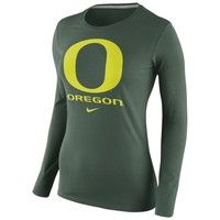 Oregon Ducks Nike Womens Logo Long Sleeve T-Shirt – Green