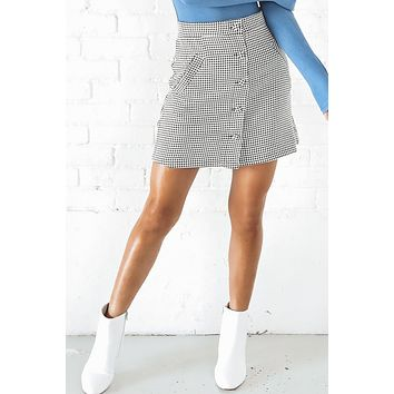 Race Against The Sunlight Houndstooth Skirt