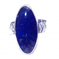 Large Oval Stone Sterling Silver Ring