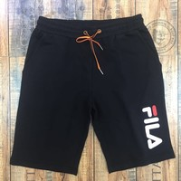 FILA 2019 new letter printed casual men's shorts