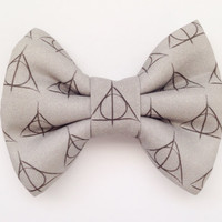 Deathly Hallows / Harry Potter Handmade Bow (Handmade Bow / Bow Tie / or Headband)