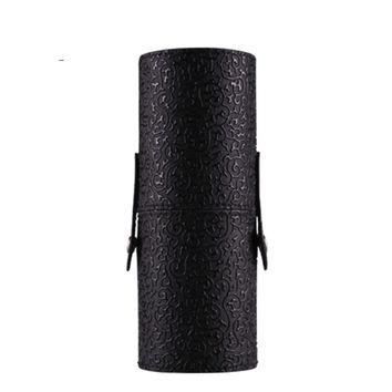 Hot!Hot Professional  Leather Cosmetic Case Portable Storage Makeup Bags Organizer Brush Holder Cup DX29