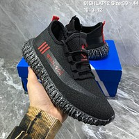 hcxx A1018 Adidas Yeezy MRN-550 Mesh Breathable Running Shoes Black Red