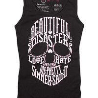 Women's Kiss of Death Racer Back Tank Top in White