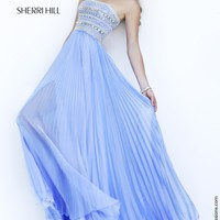 Sherri Hill 32182 Strapless Chiffon Prom Dress