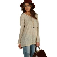 Sale-taupe Chill Day Top