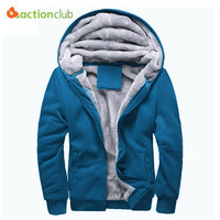Actionclub Brand Men Coats Mens Tracksuit Men's Thicken Warm Outerwear Polo Hoodie Thrasher Deadpool Winter Autumn Sweatshirt