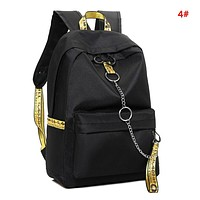 Off White Fashion New Letter Print Leisure Women Men Backpack Bag School Bag 4#