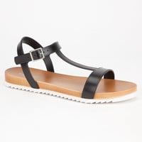 Bamboo Acai Womens Sandals Black  In Sizes