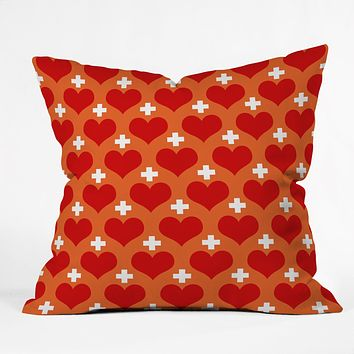 Caroline Okun Love Saves Throw Pillow