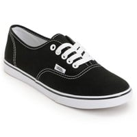 Vans Authentic Lo Pro Black Shoes (Women's)