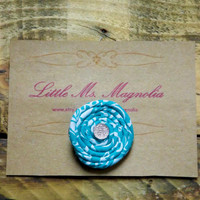 """Turquoise Hair Clip, Little Girls, Toddler Girl, Teen Girl, """"Round and Round We Go"""", Hair Accessories"""