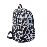 """Adidas"" Casual Sport Laptop Bag Shoulder School Bag Backpack Spell black white"