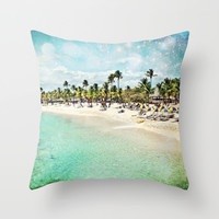 Paradisio Throw Pillow by Jenndalyn