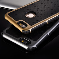 Ultra Thin Shockproof Rubber PC Gel TPU Hybrid Case Cover For Apple iPhone 5S SE 6 6S 6 Plus Luxury Armor Cases Shell Coque Capa