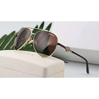 Versace Summer Trending Women Men Personality Sun Shades Eyeglasses Glasses Sunglasses Coffee I-A-SDYJ