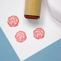 CIJ SALE Solid Rose Rubber Stamp