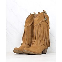 Very Volatile - Pasa Suede Western Boots in Tan