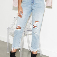 Kendall & Kylie Shag Blue Ripped Mom Jeans at PacSun.com