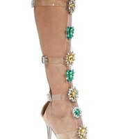 Celebrity Style Jeweled Gladiator