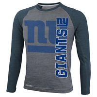 New York Giants Dri-Tek Raglan Performance Tee - Boys
