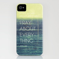 Phillipians 4:6 iPhone Case by Pocket Fuel   Society6