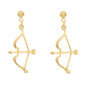 Bow & Arrow Charm Earring