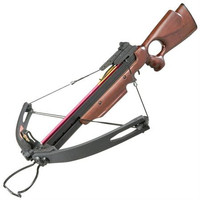 Crossbow Striker 150 lb Draw- Wooden Stock/ Sight and Two Arrows