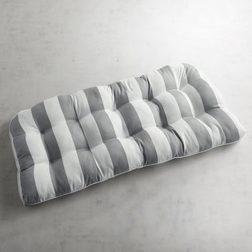 Contour Settee Cushion in Dover Pewter