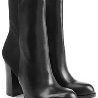 Leather Ankle Boots with Suede - Sam Edelman | WOMEN | US STYLEBOP.COM