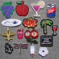 hot sell cartoon loveliness patch hot melt adhesive applique delicacy embroidery patch DIY clothing accessory patch C5123-C2300