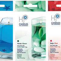 H2O Instant Water Candle Kit 2-Pack - Blue Single (Inactive)