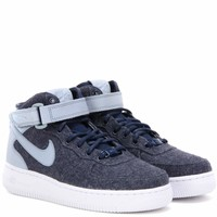 Nike Air Force Mid '07 fabric and leather high-top sneakers