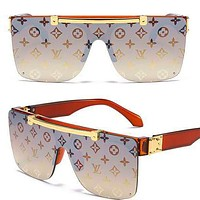 LV Louis vuitton sells casual women's man printed beach sunglasses