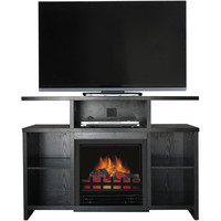 """Driftwood TV Stand with Fireplace Insert for TVs up to 60"""", Multiple Colors - Walmart.com"""