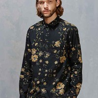 Your Neighbors Ornate Floral Button-Down Shirt