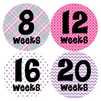 Pregnancy Baby Bump Week Stickers Style #904