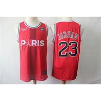 Michael Jordan x Paris Saint-Germain Red Swingman Basketball Jersey