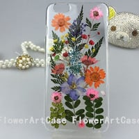 FlowerArtCase real pressed flower iphone 6 case iphone 6 plus case samsung galaxy note 4 case s5 case leaves flowers iPhone 5 5s cases cover